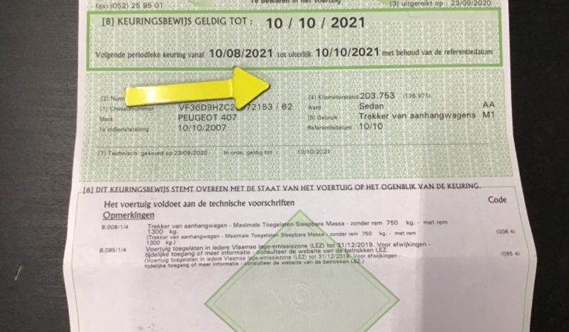 Peugeot 407 1.6 HDi Sport full