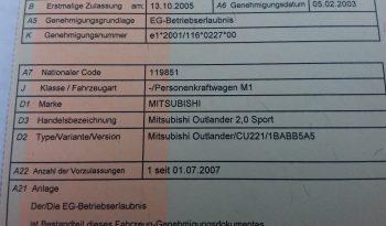 Mitsubishi Outlander 2.0 Sport full